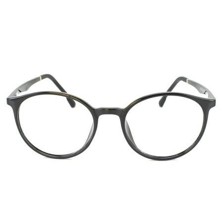 296efa1efa Eye Buy Express Prescription Glasses Mens Womens Black Silver Rounded Retro  Greading Glasses Anti Glare grade - Walmart.com