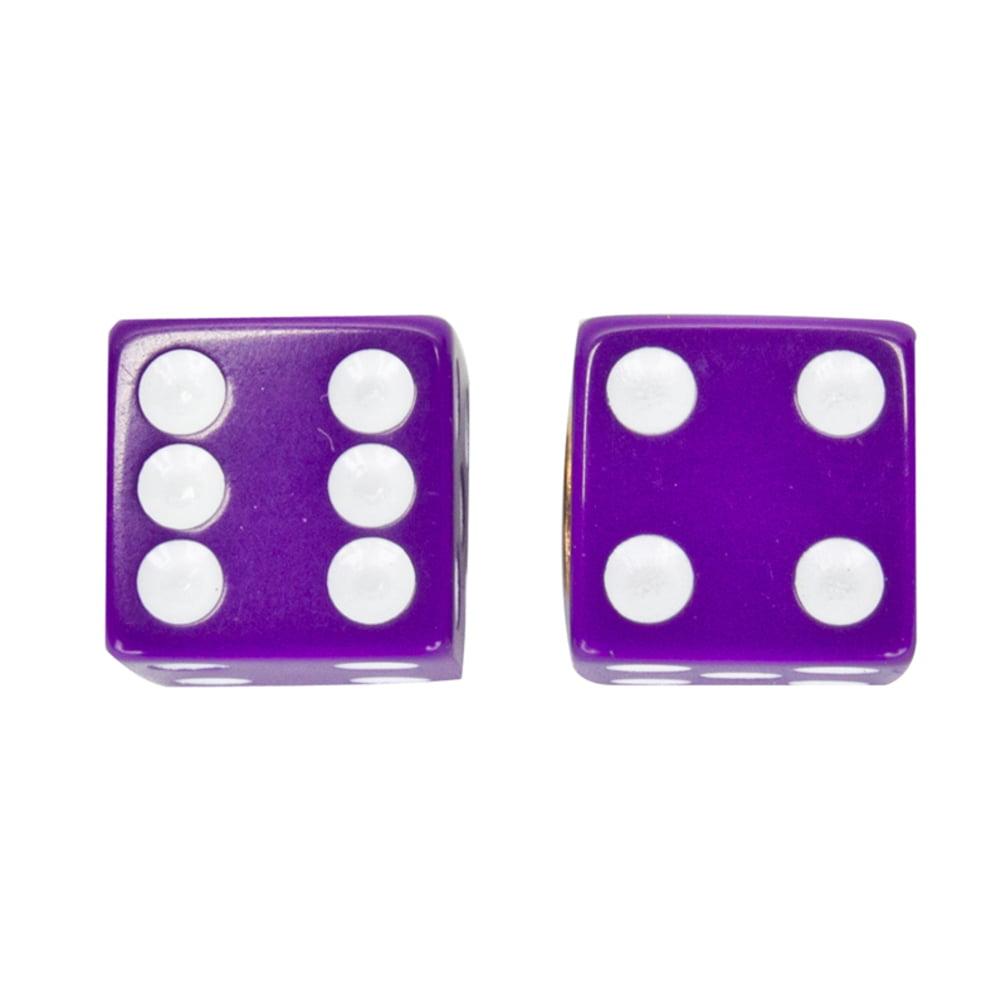 Trick Tops Valve Caps Dice Purple