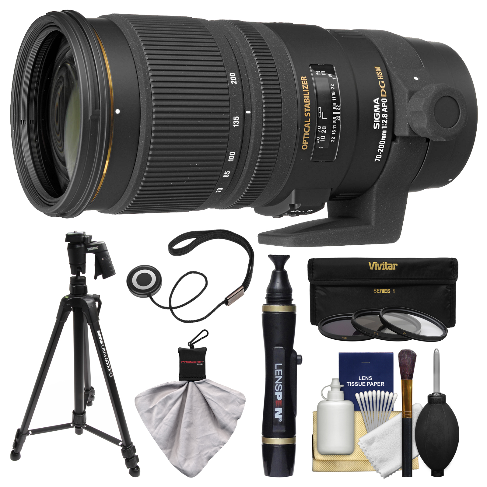 Sigma 70 200mm F 28 Apo Ex Dg Os Hsm Zoom Lens 3 Filters Tripod For Nikon 300mm 4 56 Kit D3300 D5300 D5500 D7100 D7200 D610 D750 D810