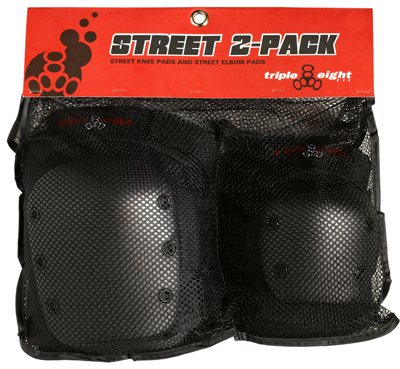 Triple Eight Street 2-Pack Skateboard Pads-Small by Triple Eight
