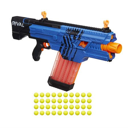 Nerf Rival Khaos MXVI-4000 Blaster Blue Motorized Rapid Fire Gun Hasbro B3860US2B](Rapid Fire Marshmallow Shooter)