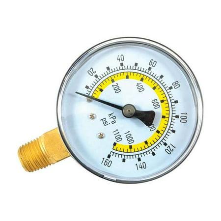 Forney Industries 1892991 Plastic 2.25 in. Bottom Mount Air Pressure Gauge, 0.25 in. NPT 160 PSI - image 1 of 1