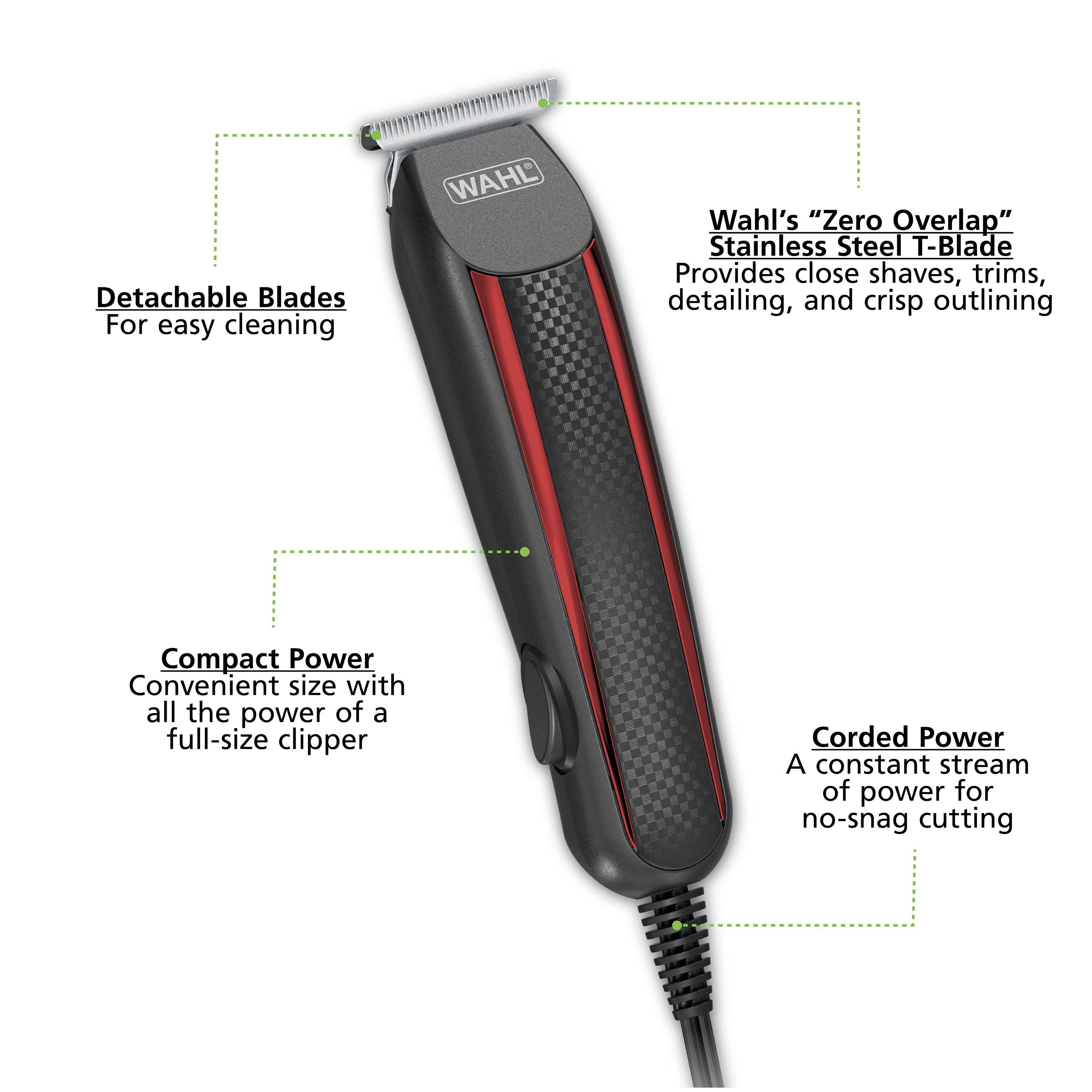 Wahl Edge Pro Trimmer Allows You To Shave Detail Trim Fade And