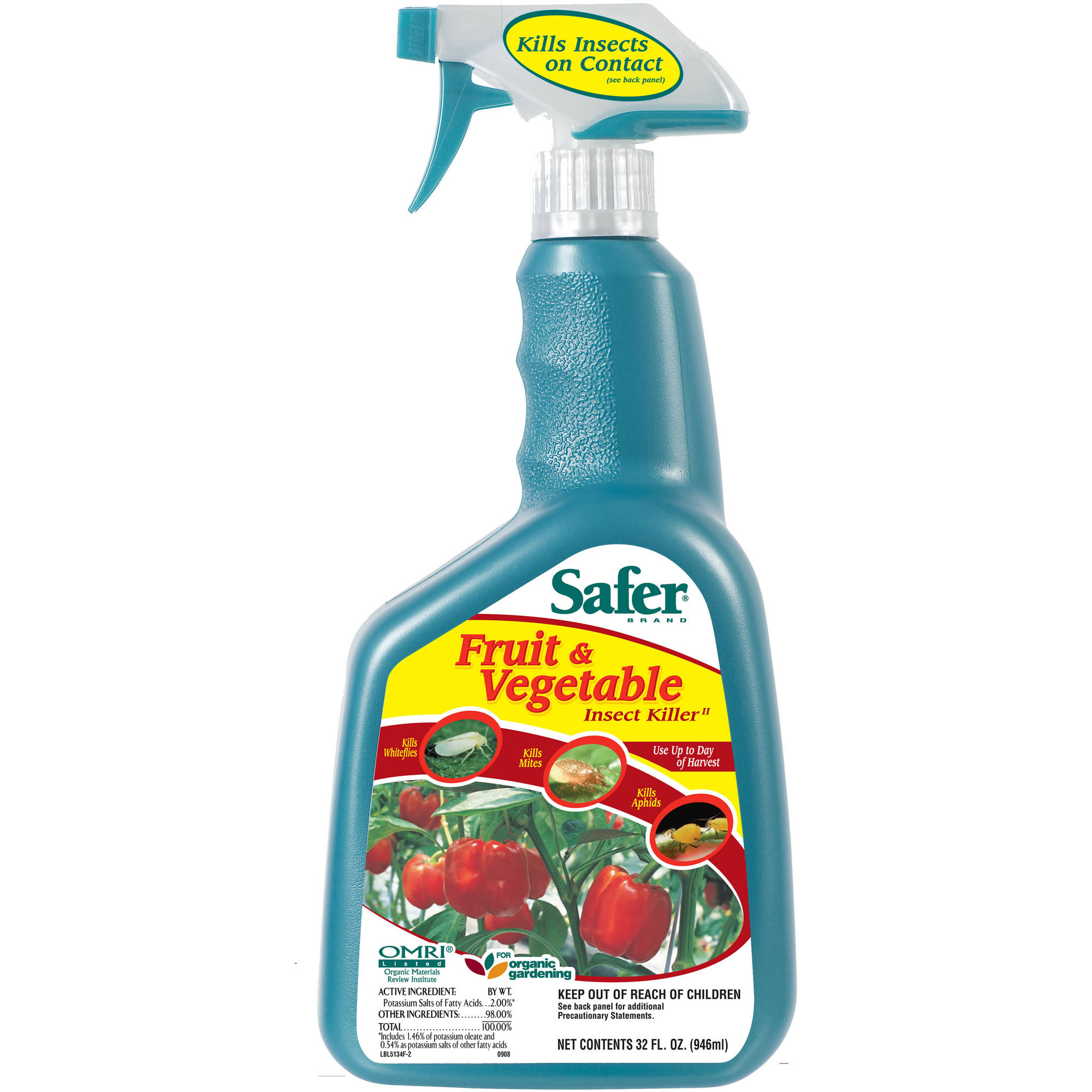 Safer Brand Fruit and Vegetable Insect Killer 32 fl oz Ready-to-Use Spray