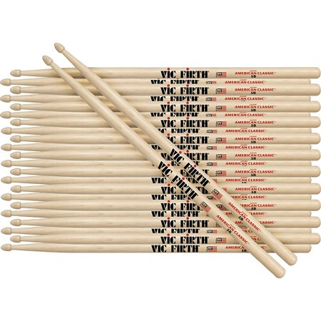 Vic Firth 12-Pair American Classic Hickory Drumsticks Nylon
