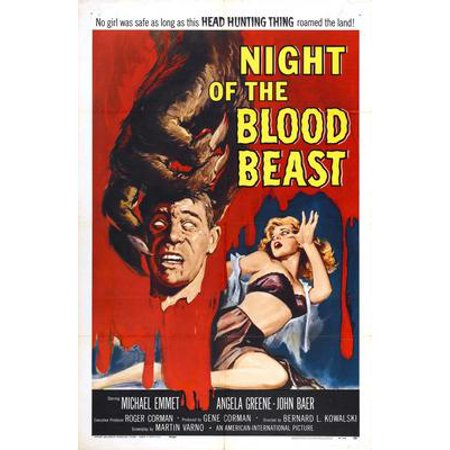 Night Of Blood Beast Movie Poster 11inx17in Wall Art](Bloody Wall)