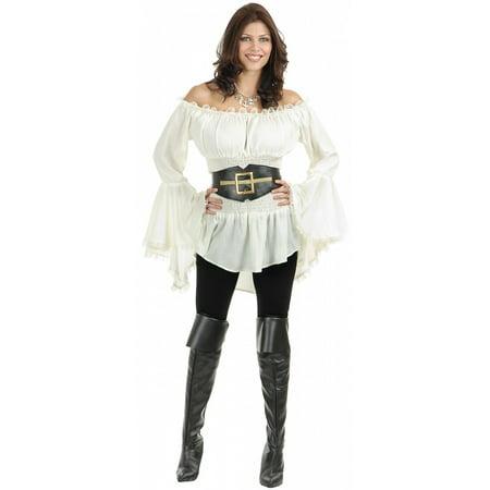 Pirate Lady Vixen Blouse Adult Costume - X-Large