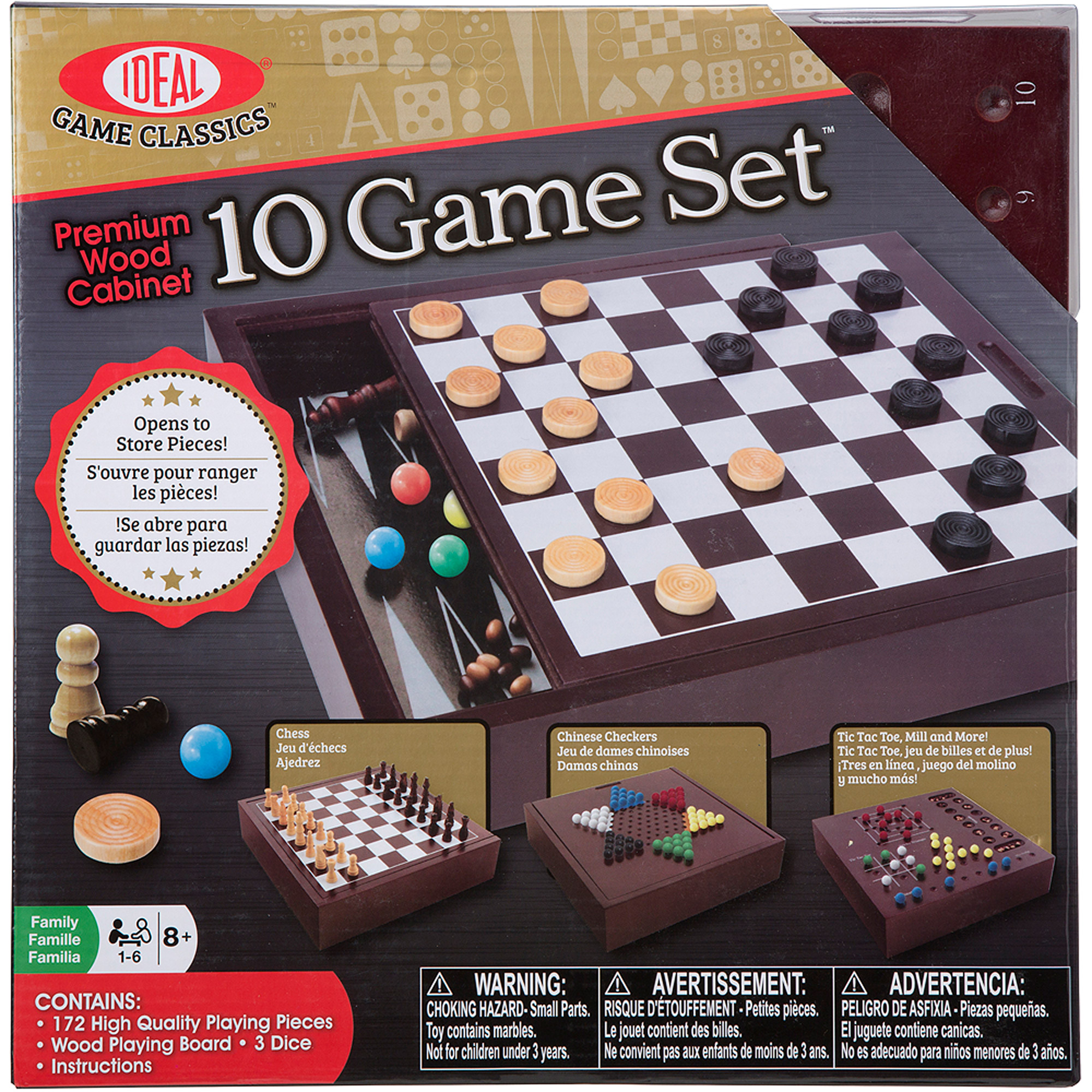 Ideal Premium Wood Box 10 Game Set