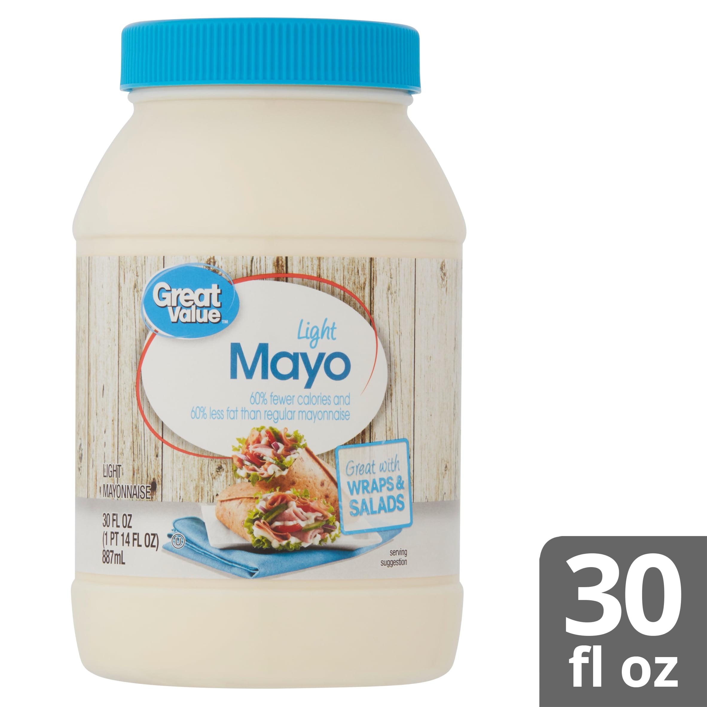 Great Value Light Mayo 30 Fl Oz Walmart Com Walmart Com