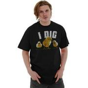 Nerd Mens T-Shirts T Shirts Tees Tshirt I Dig Chicks Funny Flirting Pick Up Line Gift