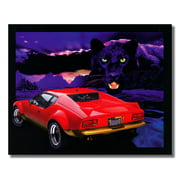 Red Pantera Car with Black Panther Photo Wall Picture 8x10 Art Print