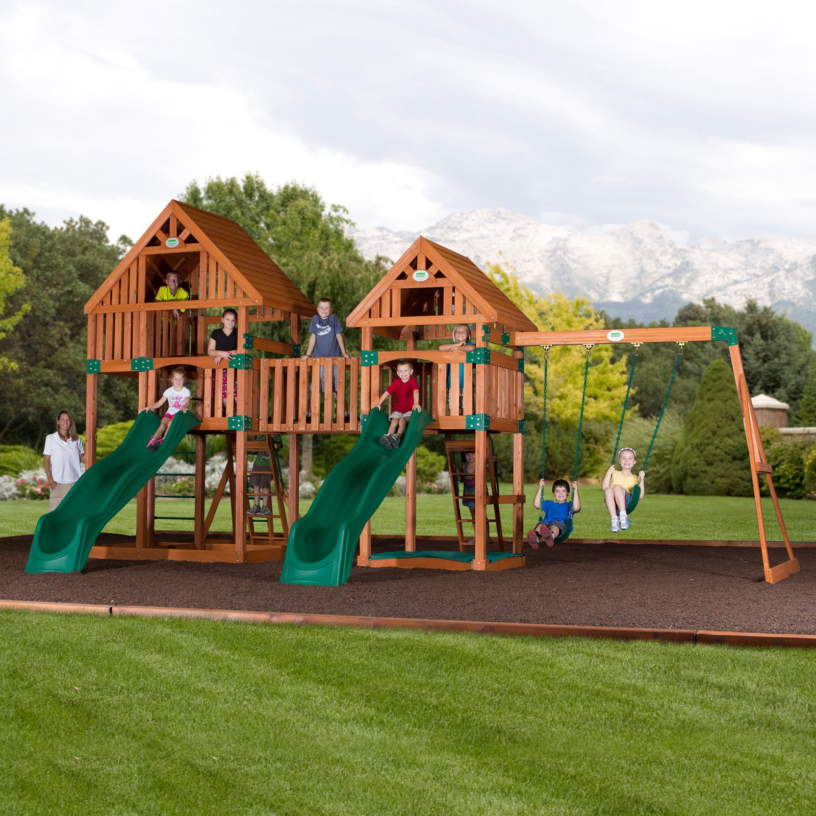 Backyard Odyssey Vista All Cedar Swingset