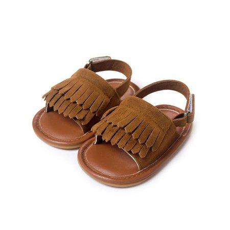 Toddler Girl Tassel Summer Anti-slip Shoes Soft Rubber Sole Fringed