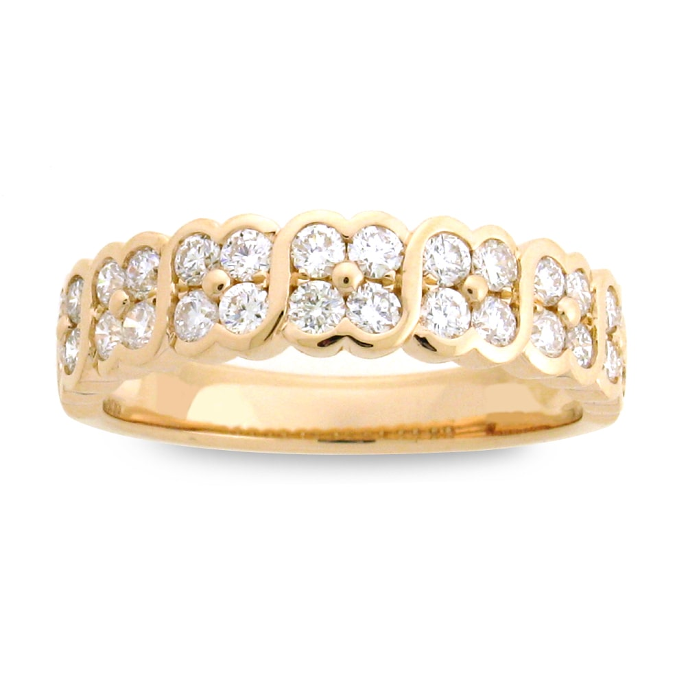 Azaro Jewelry Azaro 18k Rose Gold 5/8ct TDW Scalloped Diamond Fashion Band