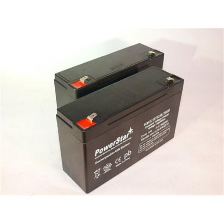 PowerStar AGM612-2Pack10 6V 12Ah PS-6100 Deep-Cycle Rechargeable SLA Energy Storage