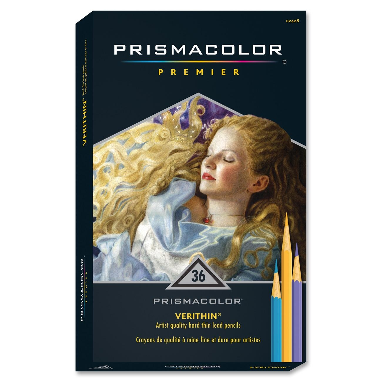 prismacolor verithin colored pencil assorted ink assorted lead 36 set san2428 walmartcom