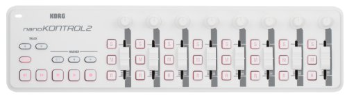 nanoKONTROL2 Slim-Line USB Control Surface White by Korg USA, Inc