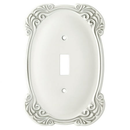 Franklin Brass Arboresque Single Switch Wall Plate, White