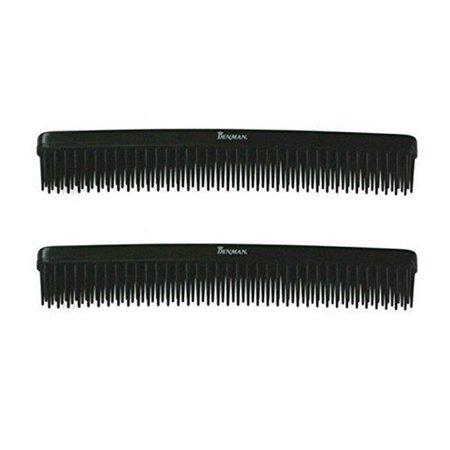 Denman D12 Black 3-Row Comb (Pack of 2)
