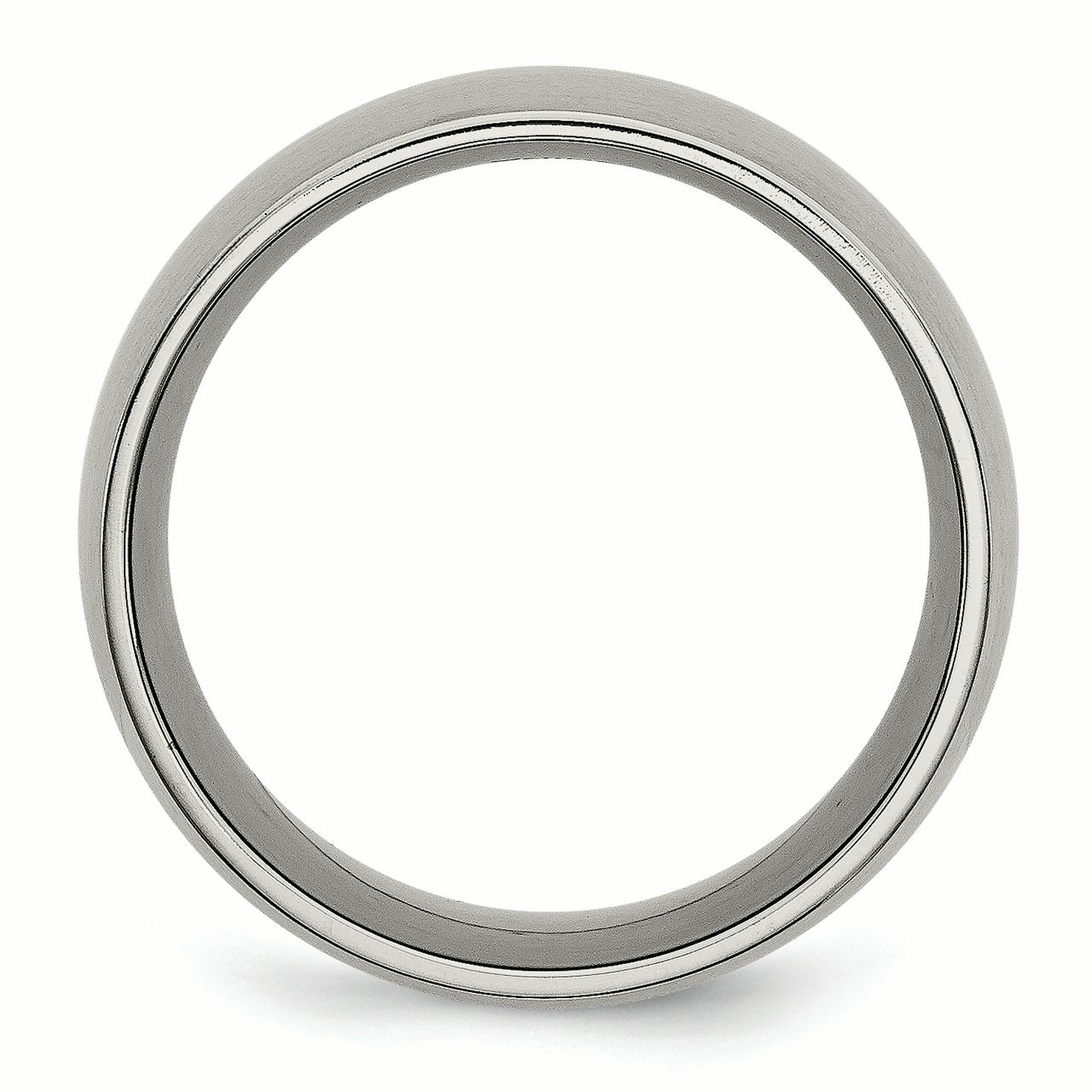 Titanium 12mm Brushed Wedding Ring Band Size 8.00 Classic Domed Fashion Jewelry Gifts For Women For Her - image 3 of 6