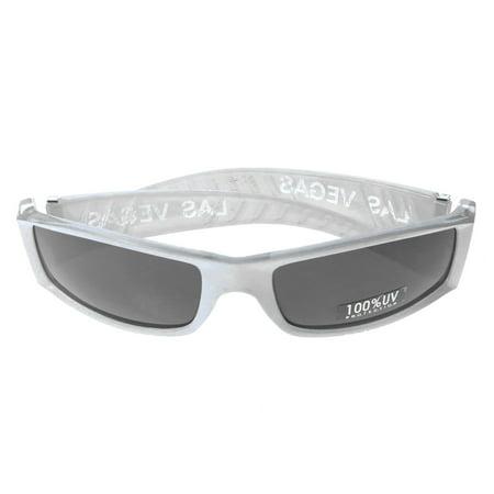 Mi Amore UV protection Las Vegas logo Sport-Sunglasses White & (Designer Sunglasses Las Vegas)