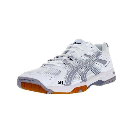 - Asics Women's Gel-Rocket 6 White/Silver Above the Knee Tennis Shoe - 9.5M