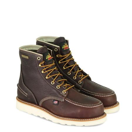 "Thorogood 1957 6"" Moc Toe, MAXwear Wedge Waterproof Non-Safety Toe Boot, Briar Pitstop - 10 2E US"