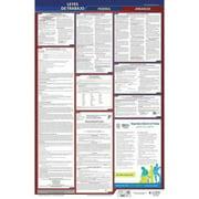 JJ KELLER 400-AR-5 Labor Law Poster,Fed/STA,AR,SP,26inH,5yr