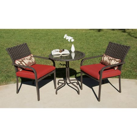 Rushreed 3 Piece Outdoor Bistro Set Seats 2 Walmart Com