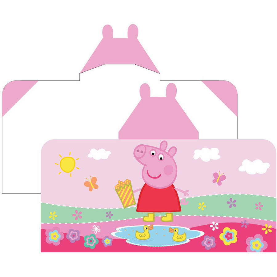 Peppa Pig 'Peppas Pond' Hooded Bath Towel Wrap