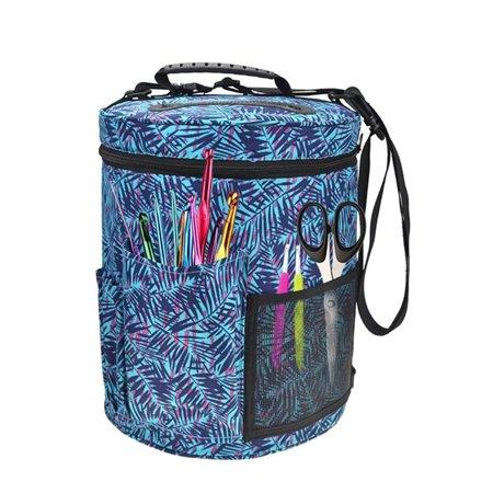 Woolen Yarn Storage Bag Knitting Crochet Ball Holder Tote Organizer Bag Basket, M