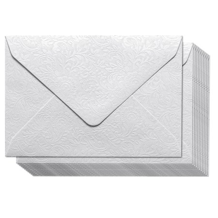 Small Envelopes - 100-Count Bulk Mini Envelopes for Gift and Business Cards, Floral Pattern, Tiny Envelope Pockets for Small Note Cards, White 4 x 2.7 Inches ()