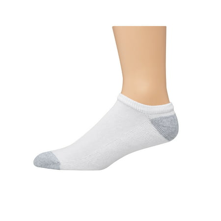Hanes Men's Half Cushion White No Show Socks, 20 Pack