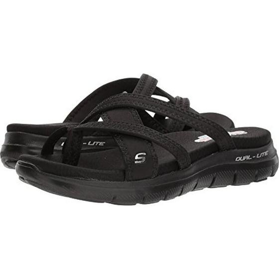c50816f57a82e Skechers Cali Women's Flex Appeal 2.0-Start up Sport Sandal,Black/Black,6 M  US