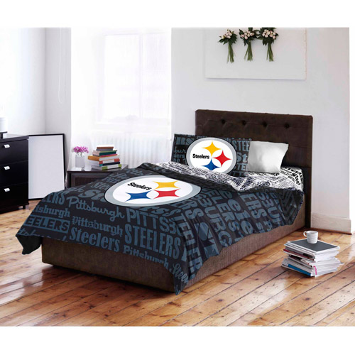 NFL Pittsburgh Steelers Bed in a Bag Complete Bedding Set