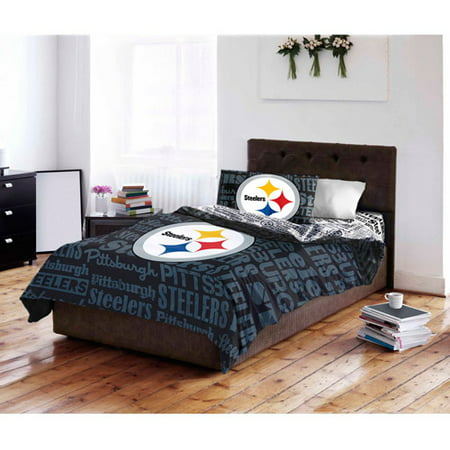 NFL Pittsburgh Steelers Bed in a Bag Complete Bedding Set by