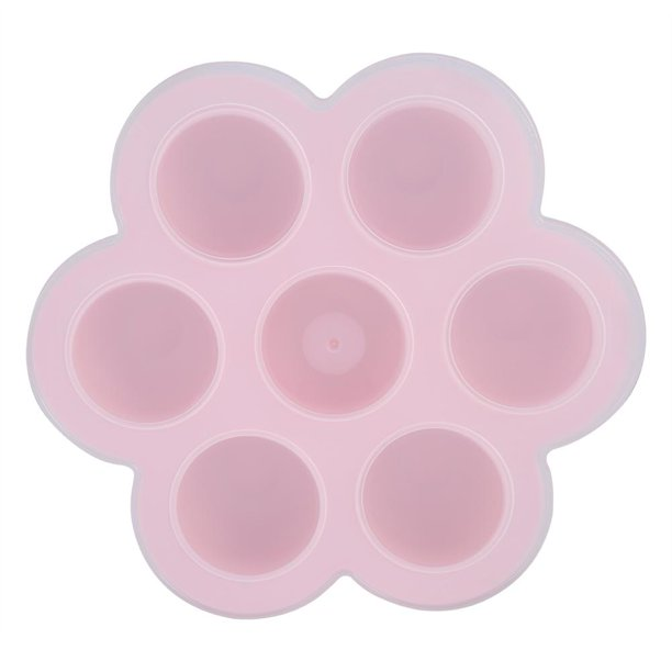 7 Cavities Silicone Egg Mold Reusable Storage Container Baby Food Freezer Trays with Lid, Silicone Baby Food Tray, Food Freezer...