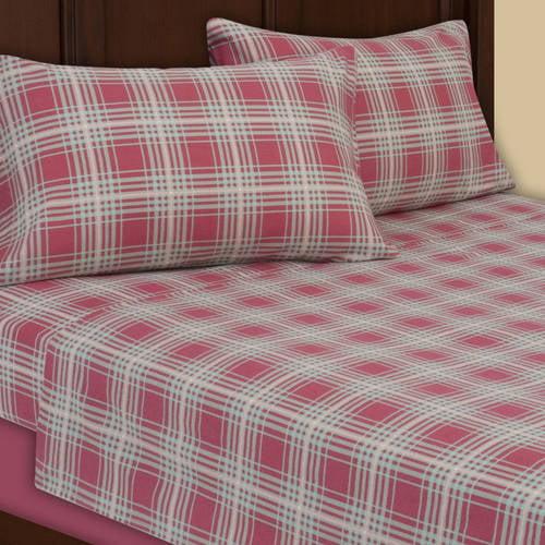 Plaid Flannel Sheets Pottery Barn King: Mainstays Flannel Sheet Set, PINK PLUM PLAID-King