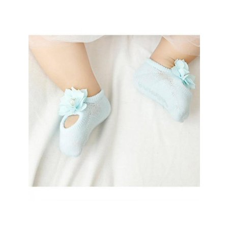 Lavaport 3 Pairs Newborn Baby Girl Lace Cotton Lovely Cozy Frilly Socks