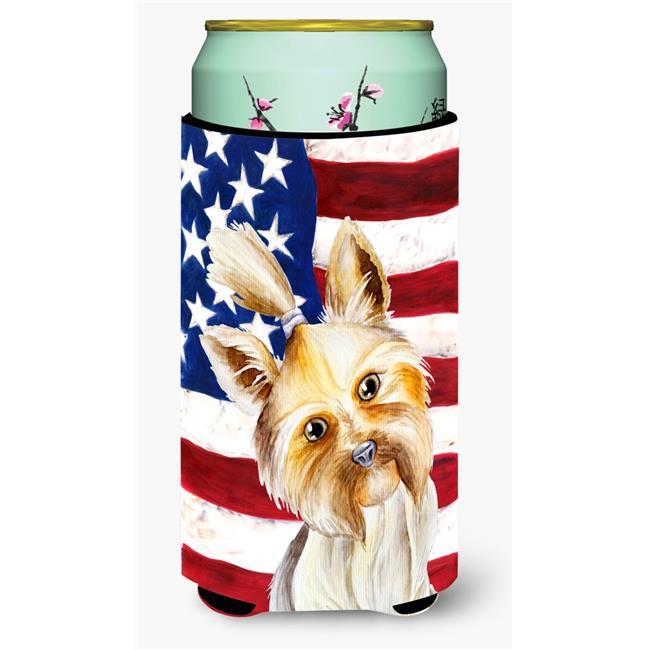 Carolines Treasures CK1382TBC Yorkie Yorkshier Terrier Patriotic Tall Boy Beverage Insulator Hugger - image 1 of 1