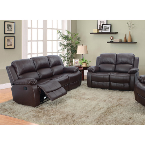 Beverly Fine Furniture Denver 2 Piece Bonded Leather Reclining Living Room  Sofa Set