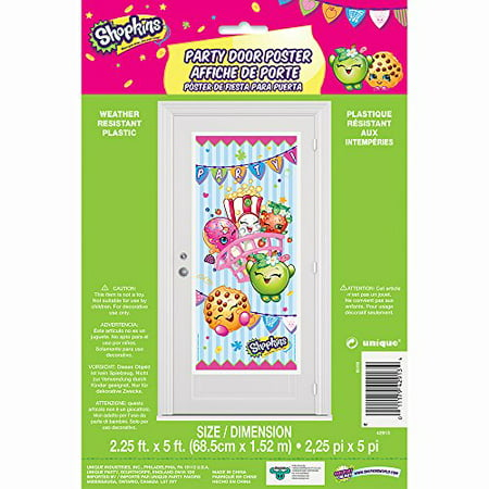 Plastic Shopkins Door Poster Party Decoration, 60 x 27 in, 1ct - 60 Party Decorations