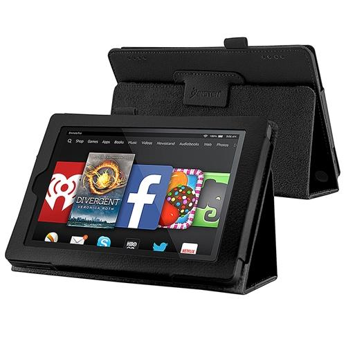 "Insten For 2014 Amazon Kindle Fire HD 7"" Tablet Folio PU Leather Smart Case Cover Stand Black"
