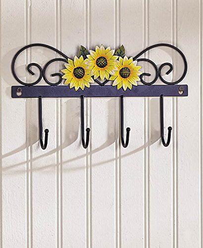 country kitchen wall hooks (yellow sunflower) - walmart