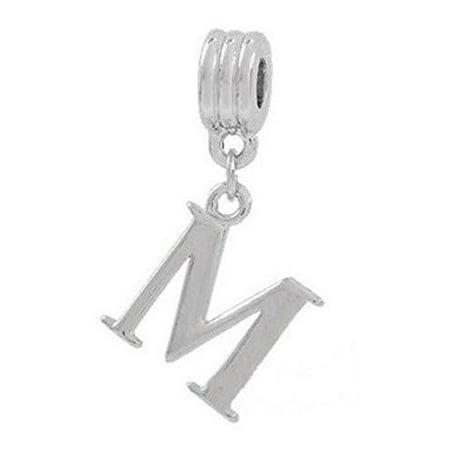 Fox Charm (Alphabet Spacer Charm Beads Letter M for Snake Chain)