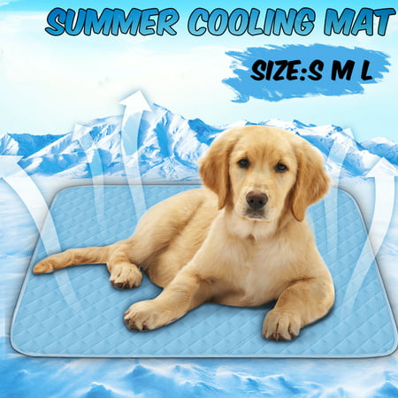 3 Sizes Pet Dog Cat Cool Mat Self Cooling Gel Pad Dog Bed Mattress Breathable (Best Dog Cooling Pad)