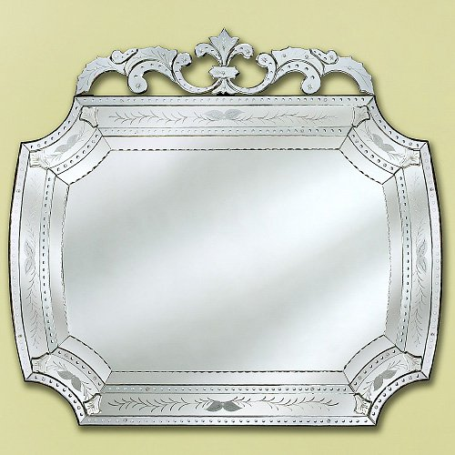 Large Camela Venetian Wall Mirror - 55W x 60H in.