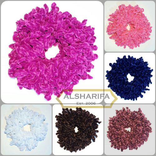 Large Hijab Scrunchie Hijab Tichel Volumizer | Hair Ring | Fascinator | Hair Tie | Khaleeji | BLACK