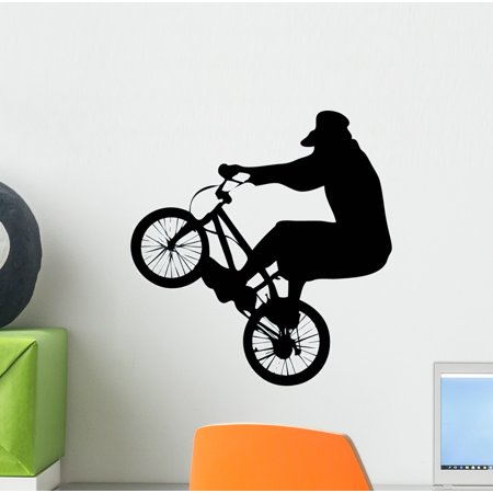 Bmx Wall Decal Sticker, Wallmonkeys Peel & Stick Vinyl Graphic (12 in H x 11 in - Bmx Frame Decal