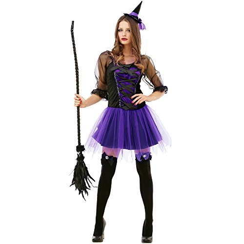 c5bef44ad51 Boo! Inc. Spellbinding Sorceress Women s Halloween Costume Sexy Witch  Classic Dress - Walmart.com